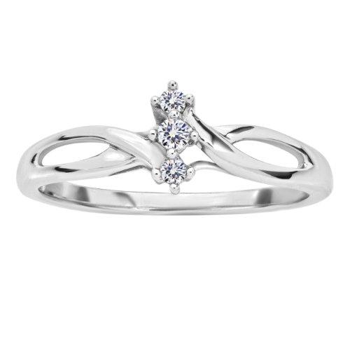 Diamond Promise Ring - Platina 4 Ring size 5