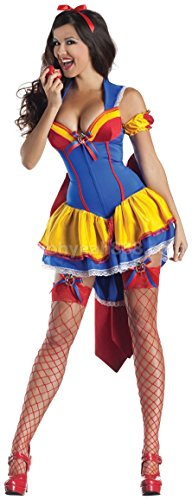Sexy Snow White Adult Women's Costume Halloween Fancy Dress Outfit