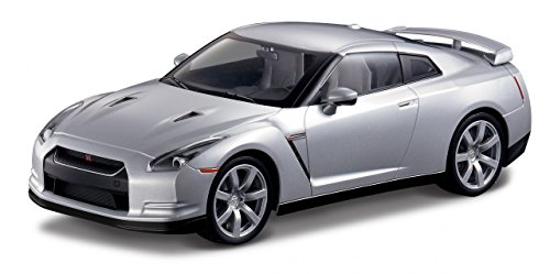 MJX 1:14 Nissan GT-R R35 - Silver with Head and Tail Lights and Tri-Band Remote (Rc Nissan Gtr compare prices)