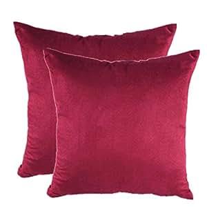 Burgundy Color Decorative Pillows : Amazon.com - Juanshi Set of 2 Piece 19
