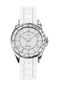 Go Women's 697718 Mother-Of-Pearl White Soft Rubber Band Watch