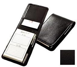 Raika TN 125 BLK Note Case with Pen - Black