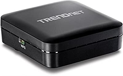 TRENDnet Wireless AC Easy-Upgrader (TEW-820AP), Micro USB Power port, One-touch Network setup with WPS Button, Pre-encrypted, compact pocket size design, Supports Client Mode, WDS, up to 4 SSID, perfect for HD Streaming, Gaming, Chromecast, Netflix, Hulu,