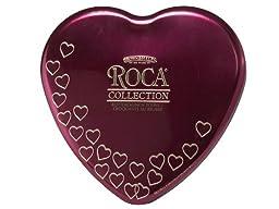7.75 oz ROCA Collection Heart Tin ALMOND & DARK ROCA