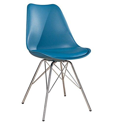 Retro designklassiker stuhl scandinavia meisterst ck blau for Designklassiker stuhl