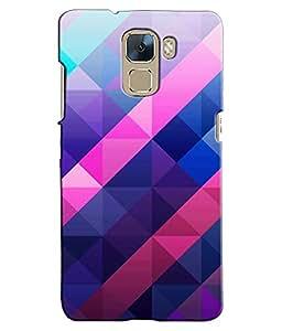 EU4IA Geometric Pattern MATTE FINISH 3D Back Cover Case For Huawei Honor 7 - D204