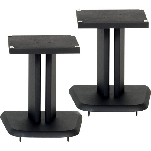Black Satin Wood Speaker Stands