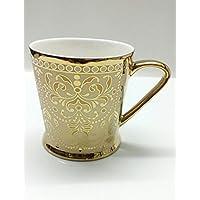 Famacart Tableware Serving Gold Bone China Tea Cups Mugs Set Of 6 Pcs