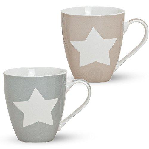 xxl-jumbo-tassen-becher-kaffeebecher-2-tlg-set-mit-sternen-beige-grau-aus-porzellan-gefertigt-je-11-