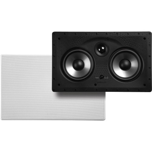 Polk Audio 255C-RT 2-way In-Wall Center Channel Speaker - The Vanishing Series, Easily Fits into the Wall, High-performance Audio, With Power Port and Paintable Wafer-Thin Sheer Grille
