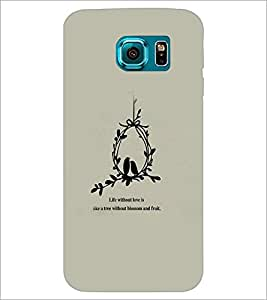 PrintDhaba Quote D-3761 Back Case Cover for SAMSUNG GALAXY S6 EDGE (Multi-Coloured)