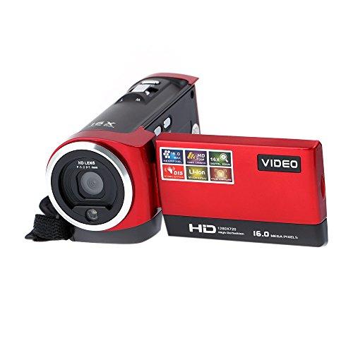 Andoer 2.7' TFT LCD Screen Digital Video Camcorder Camera HD 720P Red