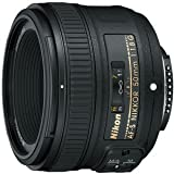 Nikon 50mm f/1.8G AF-S NIKKOR FX Lens for Nikon Digital SLR Cameras