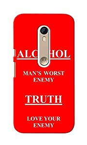 CimaCase Alcohol Truth Designer 3D Printed Case Cover For Motorola Moto X Style