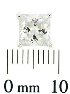 Boucle d'oreille Homme (une seule) - TMS/6 - Argent 925/1000 - 0.45 Gr - Oxyde de zirconium