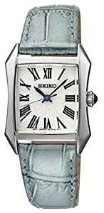 Seiko Women's SXGP23 White Dial Blue Leather Watch