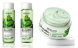 Oriflame Love Nature Aloe Vera SET OF 3 (CLEANSING GEL+FACE TONER+GEL CREAM)