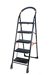 TNT 5 Steps Folding Ladder (Black)