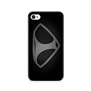 Motivatebox-Apple Iphone 5/5s cover-B/W Man of steel I Polycarbonate 3D Hard case protective back cover. Premium Quality designer Printed 3D Matte finish hard case back cover.