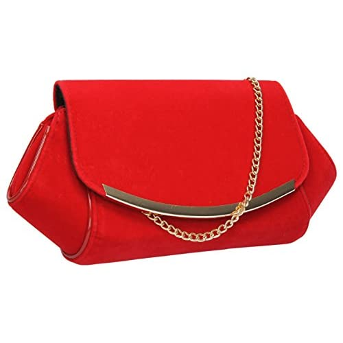 Reeba Flapover Velvet Bum Bag Womens Clutch Bag
