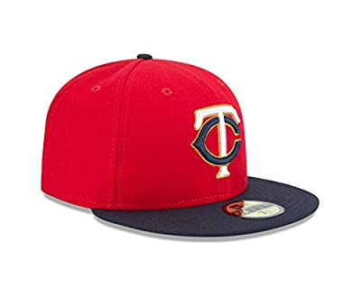"NEW ERA 59Fifty Hat Minesota Twins ""TC"" 2016 Red/Navy Blue Fitted Cap"