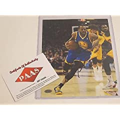 Andre Iguodala Signed Photograph - Indiana Pacers 8x10 PAAS Certified Coa -...