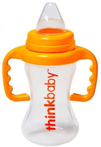 Thinkbaby Trainer Cup, Orange, 9 Ounce