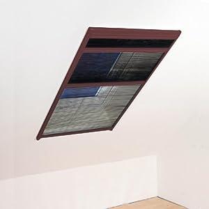 Insektenschutzgitter für Dachfenster Plissee Insektenschutz Mückengitter Fliegengitter 110x160cm braun  BaumarktKundenbewertung und Beschreibung