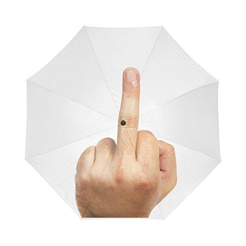 Hipster Funny Middle Finger Auto Folding Travel Umbrella Portable Foldable Sun Rain Umbrella