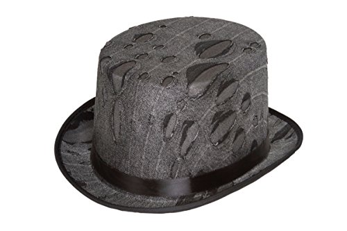 Jacobson Hat Company Men's Zombie Top Hat, Grey, Adult