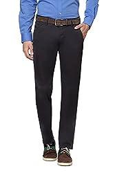 Peter England Men's Slim Fit Pants (32_Grey)