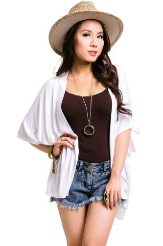 Dolman Open Cardigan in White