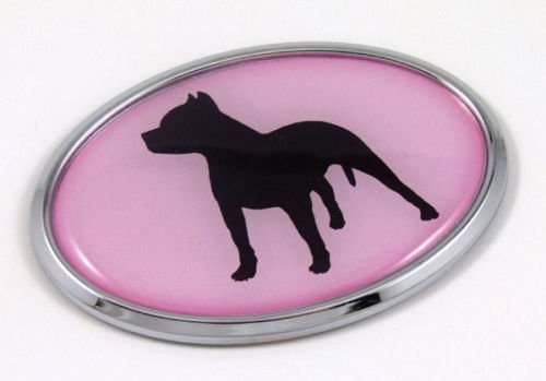 Pit Bull Dog PINK Breeds 3D Chrome emblem Pet Decal Car Auto Bike Truck Sticker (Pitbull Car Emblem compare prices)