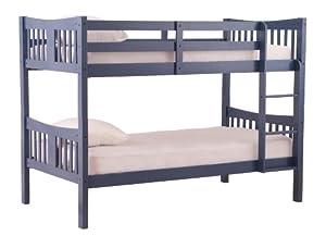 Amazon Com Stork Craft Caribou Bunk Bed Navy Furniture