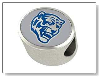 Memphis Tigers Charms and Bead Fits Most Pandora Style Bracelets Including Chamilia Troll and More. High Quality Bead in Stock for Immediate Shipping. Officially Licensed