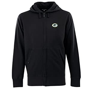 NFL Men's Green Bay Packers Full Zip Signature Hooded Sweatshirt from Antigua
