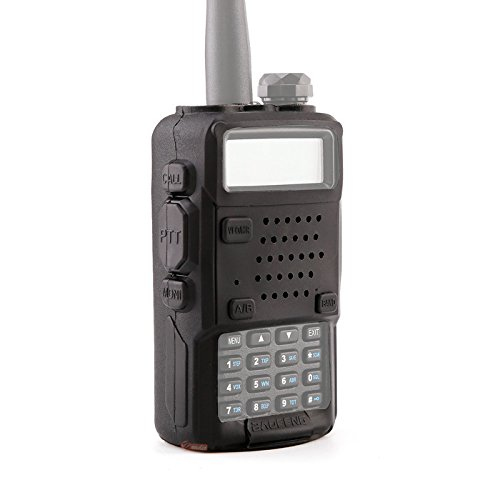Zeadio 送受信用無線機 保護用 ソフトケース Baofeng製 UV-5R UV5R+用 [1 年保証] - ブラック