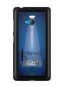 YuBingo Different is Beautiful Designer Mobile Case Back Cover for Microsoft Lumia 540