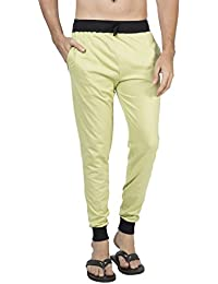 Clifton Men's Ribbed Slim Fit Track Pant - Pista