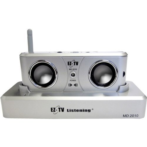 The EZ-TV Combination Wireless Speaker and Headphone TV Listening System