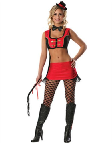 Adult Womens Sexy Big Top Circus Ring Master Tamer Costume