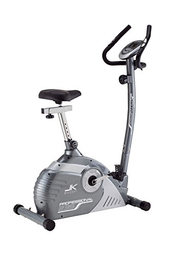 JK Fitness Professional JK235 Cyclette Magnetica, Grigio/Argento