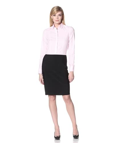 Calvin Klein Collection Women's Long Sleeve Seamed Button-Up Shirt