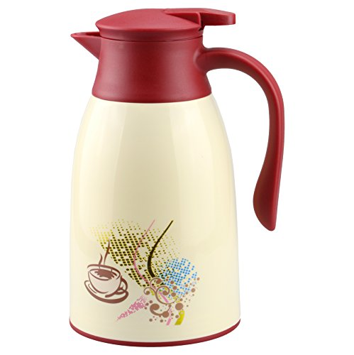 Coffee Maker Glass Lined Carafe : AceChef 45 Oz Glass Lined Thermal Carafe,Coffee Flask Carafes,Tea Pot with lid,Vacuum Insulated ...