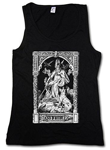 ODHIN VIKING DONNA CANOTTA TANK TOP - Teutoni Celti Odin Thor Mjölnir Loki Midgard norvegese Vikings Celts Rune Shirt Taglie S - XL
