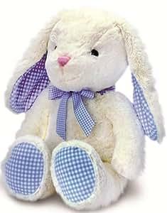 25 cm Nursery Gingham Rabbit White