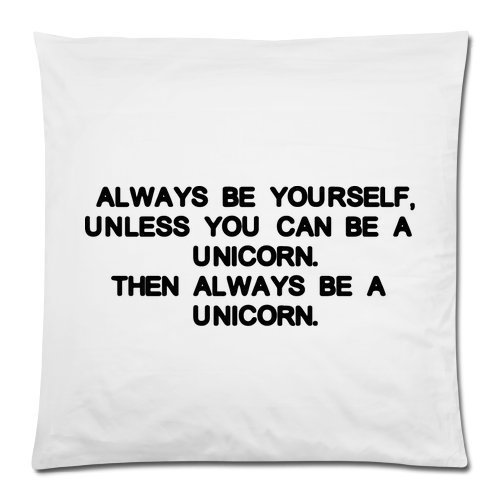 Funny-Taie-doreiller-Anglais-Always-Be-Yourself-Unless-You-Can-Be-A-Unicorn-Housse-Couverture-Taie-doreiller-Decor-Housses-de-coussin-carr-avec-fermeture-Fermeture-clair-Invisible-457-x-457-cm-un-ct-i