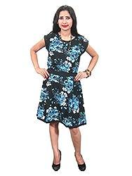 Indiatrendzs Women Georgette Black Dress