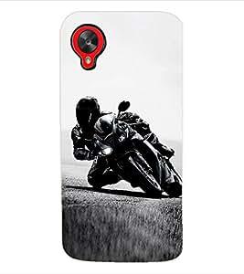 ColourCraft Bike Back Case Cover for LG GOOGLE NEXUS 5