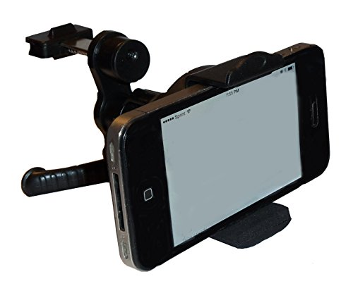 Little Parts AVPH1 – Air Vent Car Phone Mount – Portable Universal Cell Phone Holder for Car – Best Lifetime Replacement Guarantee – Holds Phones Over 3″ in Width, Including Apple iPhone Series 4, 4S, 5, 5S, 5C, Android, Samsung Galaxy S3, S4, S5, AT&T, Verizon, Sprint, T-Mobile, and more | Free phone screen protector with purchase!